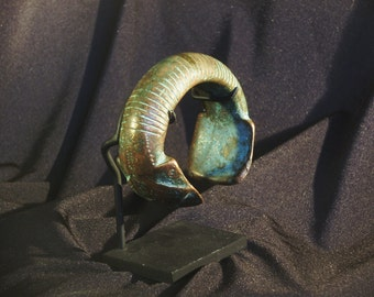 Currency Bracelet, West African, Cast Copper