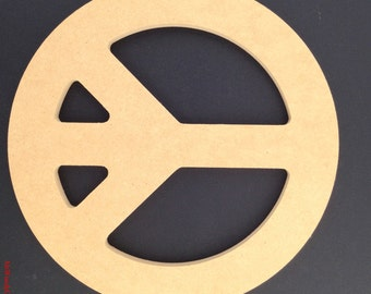 "12"" Peace Sign made out of 1/2 inch MDF. 1-12 A"