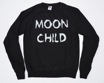 Pastel Goth Moon Child Unisex Sweatshirt Hipster Indie Swag Dope Hype Mens Womens Kawaii Crescent Moon Gothic