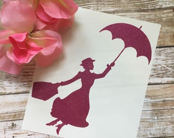 Mary Poppins Decal / Disney Decal / Mary Poppins / Car Decal