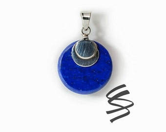 Blue Lapis Lazuli Necklace Dainty Sterling Silver Gemstone Necklace Lapis Pendant Natural Stone Healing Crystals Wedding Jewelry  Bridesmaid