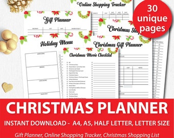 Christmas Planner, Christmas Printables, Holiday Planner, Christmas Planner Kit, Christmas Planner A5, Christmas Planner Inserts