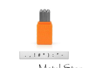Best selling item! 3mm Punctuation Stamp Set by ImpressArt Metal Design Stamps