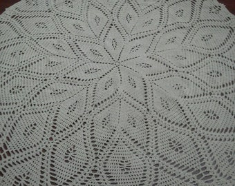 Large crocheted rug
