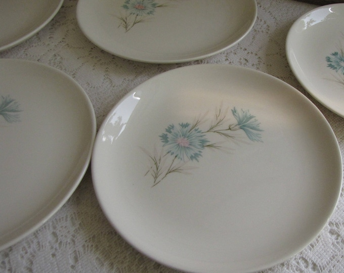 Vintage Blue Boutonniere Bread Plates Taylor, Smith & Taylor Ever Yours Series Twelve (12) Plates Available Priced Individually