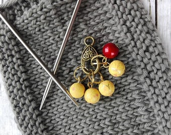 Stitch markers, knit markers, Handmade stitch markers, markers