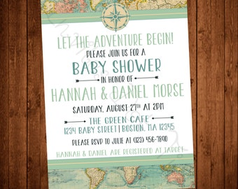 Adventure Baby Shower (Printable) Invitation