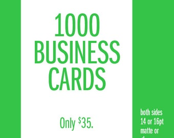 1,000 Business Cards Printing Full Color Free Shipping