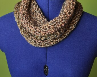 Knitted Cowl in Earthy Tones