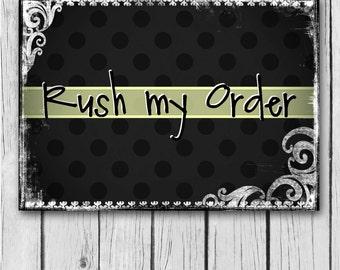 RUSH MY ORDER - Wedding Invitation / Bridal Shower / Baby Shower / Birthday / Party / Invite - Digital and Printable Invitation