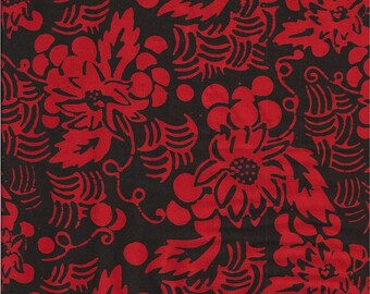 Batik Textiles - Barcelona Rhapsody Grapevines #1901 in Red/Black
