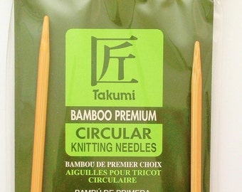 Clearance Clover Takumi Circular Needles, Bamboo, Size US 5 (3 mm), 36 Inches (91 cm), other sizes available, Lightweight