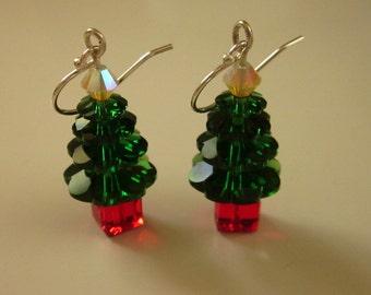 Swarovski Crystal Christmas Tree Earrings - #72