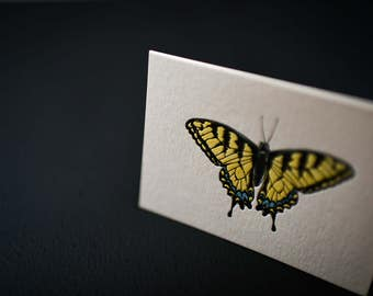 Letterpress Tiger Swallowtail Notecard