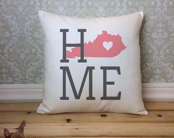 Kentucky Pillow, Kentucky State Pillow, Kentucky Home Pillow, Housewarming Gift, Square Pillow, Kentucky Home decor, Kentucky Gift Idea