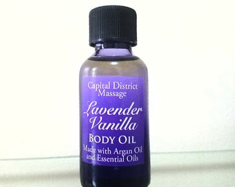 Lavender Vanilla Body Oil with Argan Oil and Essential Oils