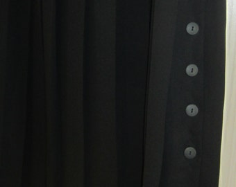 Vintage BERGDORF GOODMAN Long Black Pleated Skirt Size 14