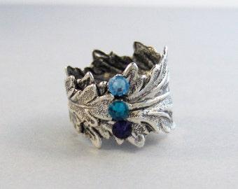 Belladonna,Ring,Leaf,Leaf Ring,Birthstone Ring,Stone Ring,Birthstone, Ring,Antique Ring,Custom Jewelry,Personalized jewelryvalleygirldesigns