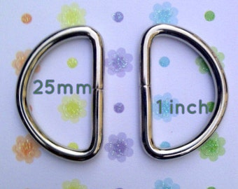 1 inch / 25mm Antique Brass or Nickel Finish Unwelded D Rings - Available in 240, 600, and 1500 pieces
