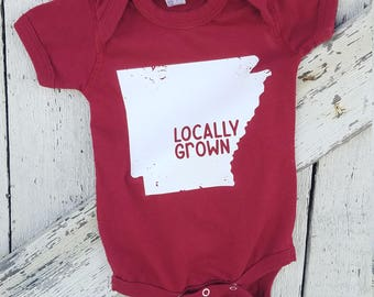 State Locally Grown Baby Onesie | Baby Gift | Baby Shower | New Mom