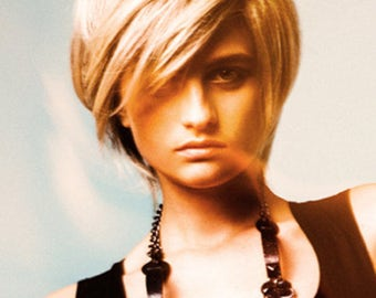 Forever Young Modern Edge Wig Color 613 Blonde Short