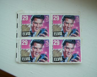 4 Elvis unused Postal stamps