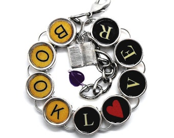 Book Lover Bracelet Reader Gift Bookish Literary Themed Jewelry