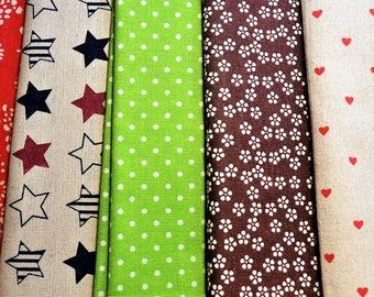 Linen&cotton fabric coupon 45x50cm