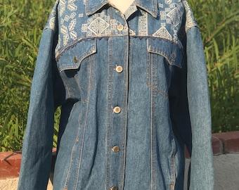 Vintage 80's Denim Jacket, Large