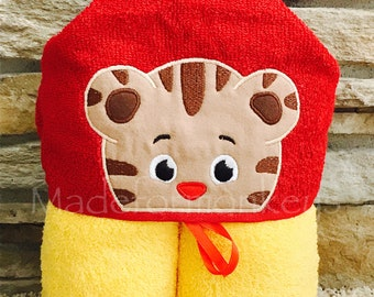 Kids Hooded Towels-Tiger Boy