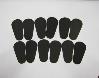 "2mm Doll Soles, 12-Pack Doll Soles, 12-Black 2mm Foam Doll shoe Soles, 18"" die cut doll soles, foam doll shoe supplies, free shipping"