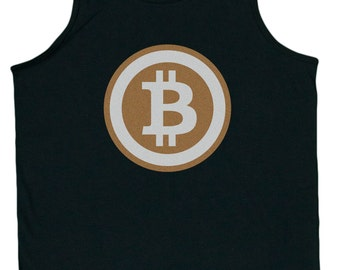 Men's Bitcoin Logo Tank Top
