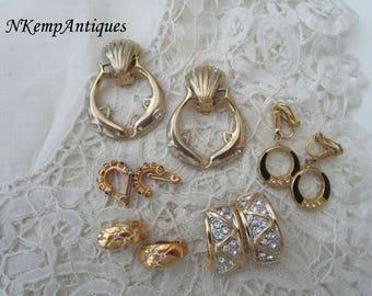 Diamante earrings clip ons x 5