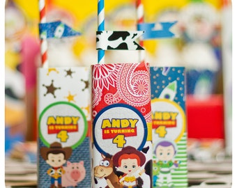 Toy Story; Toy Story Party; Toy Story Birthday Party; Toy Story Birthday; Toy Story Birthday Party;Toy Story Juice Box Wrappers