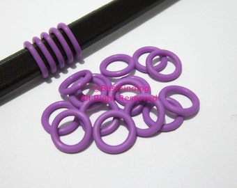 30pcs 12mm Purple silicone o rings Licorice leather rubber stopper sealing rings