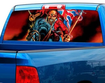 Eddie the 'Ead Edward Iron Maiden Rear Window Decal Sticker Pickup Truck SUV #5