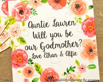 Will you be my Godmother, Will you be our Godmother, Godmother gift, Godmother proposal, Godparents card, Godmother invite, godparents gift