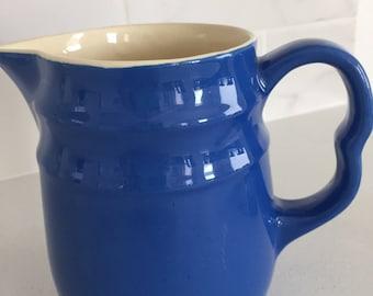 Pottery, blue pitcher