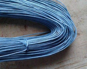 5 meters wire blue waxed cotton