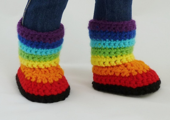 Kaleidoscope Boots Crochet Pattern