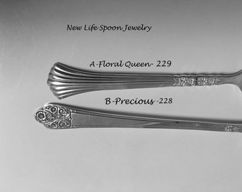 "Spoon Bracelet ""Choose Your Pattern"" Vintage Spoon Jewelry Fork Jewelry Handmade Christmas Gift Spoon Ring Antique Jewelry -3"
