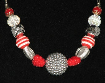 Red Kumihimo Necklace 40