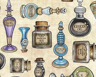 Pre Order Mid June - New - Spellbound Potions - Dan Morris - Quilting Treasures - 1 yard - Available June- BTY - BTY