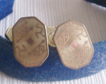 REDUCED  Old Deco Cuff Links