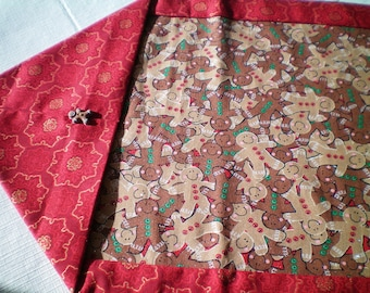 Christmas Gingerbread Man Table Runner