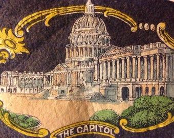Vintage felt pennant of Washington DC - Capitol Building