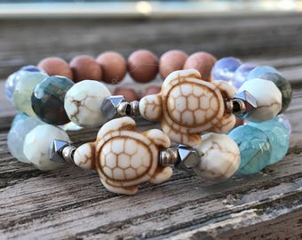 Sea Turtle Essential Oil Diffuser Bracelet