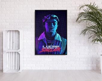 """Stranger Things """"Lucas"""" 80s inspired wall art"""