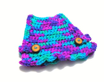 Blue and purple chicken sweater, chicken sweaters, hen saddles, battery hen sweater