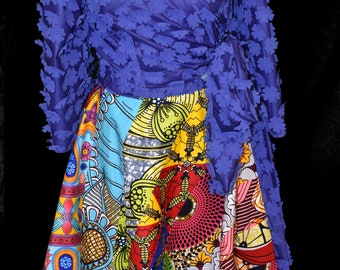 Wrap Around Top in Electric Blue